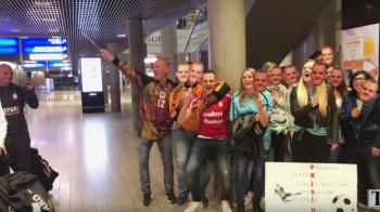 VIDEO // Bravo, CFR, ai facut 14 oameni fericiti! SUPER IMAGINI: Cum au fost primiti jucatorii lui Dudelange la sosirea in tara