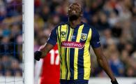 Usain Bolt a debutat in fotbal si a ratat o ocazie COLOSALA! Ce a patit cel mai rapid om de pe planeta
