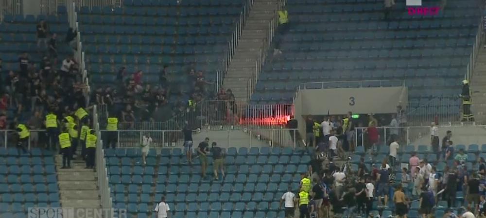 CRAIOVA - DINAMO | RAZBOI la Craiova!!! Nebunie pe stadion. Dinamovistii au RUPT gardurile si au intrat peste olteni! AICI sunt imaginile haosului