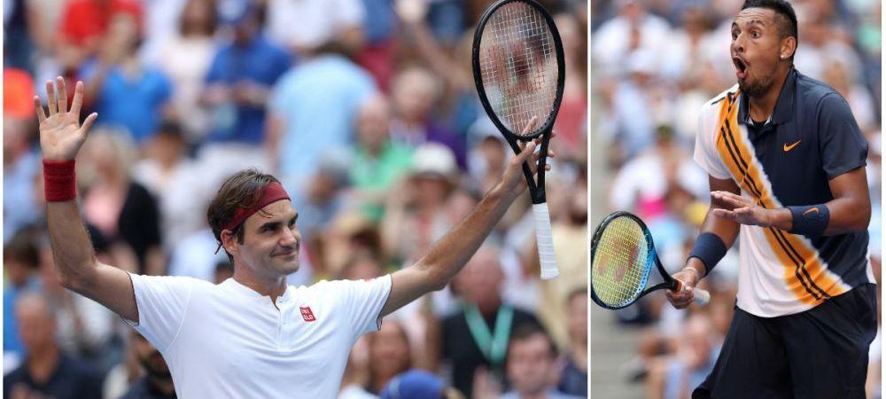 Lovitura care SFIDEAZA FIZICA! Ce a putut sa faca Federer la US Open! Reactia lui Kyrgios e de milioane