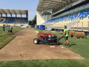 ROMANIA - MUNTENEGRU, NATIONS LEAGUE, LA PRO TV | Gazonul de pe Ilie Oana, inlocuit cu 4 zile inaintea meciului. FOTO