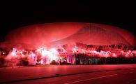 Universitatea Craiova a implinit 70 de ani! Fanii au aprins SUTE de torte la stadion aseara! FOTO
