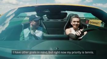 """Simona Halep a prins VITEZA cu cel mai puternic bolid Mercedes: """"Sunt un adevarat numar 1 in tenis!"""" VIDEO"""