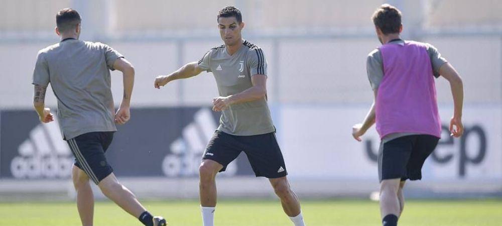 Probleme pentru Ronaldo la Torino? Portughezul a cerut 3 BODYGUARZI dupa ce a aparut cu un ochi vanat la antrenament! FOTO