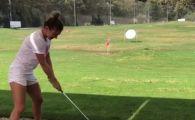 Halep a schimbat sportul :) A jucat golf: vedeta care i-a fost partener | VIDEO