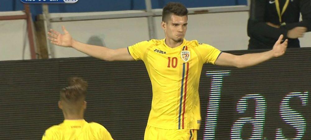 """Ce i-a spus Gica Hagi lui Ianis dupa golul direct din corner contra Bosniei: """"Stie ca mereu am ceva de completat!"""""""
