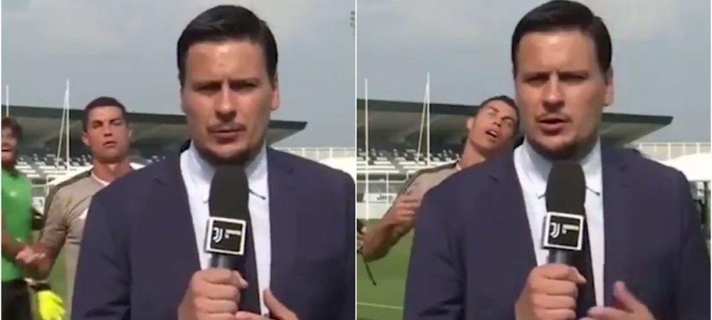 Ce i-a facut Cristiano Ronaldo reporterului Juventus TV la antrenament. Portughezul e lider si la distractie in cantonament