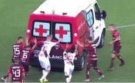 VIDEO | Ambulanta s-a stricat pe teren! Jucatorii s-au mobilizat imediat: meciul s-a reluat dupa cateva minute