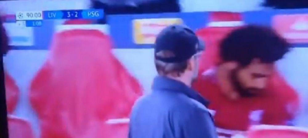 Momentul incredibil pe care niciun fan al lui Liverpool nu l-a inteles! Cum a putut reactiona Salah la golul victoriei cu PSG, marcat de Firmino: VIDEO