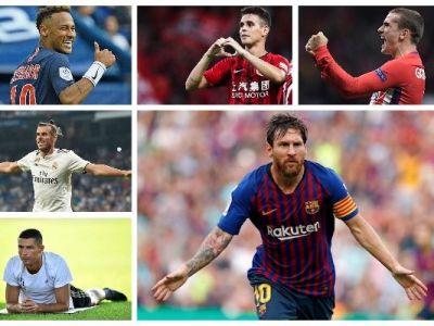 TOP 10 cei mai bine platiti fotbalisti din lume in 2018! Transferul la Juve l-a propulsat pe Ronaldo pe locul 3, dar tot este sub Messi