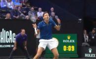 "VIDEO | Faza anului in tenis: Djokovic l-a lovit pe Federer! ""Mi-a stat inima 3 secunde!"" Replica imediata a lui elvetianului"