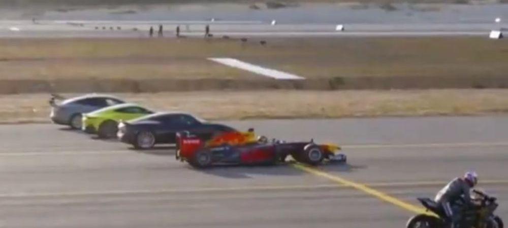 Cele mai rapide masini, o motocicleta, un avion de vanatoare sau o masina de Formula 1? Castigatorul te va surprinde | VIDEO