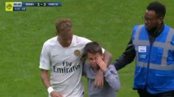 Faza zilei in Europa, la meciul PSG-ului! Un pusti a intrat pe teren si a inceput sa planga: Neymar i-a oferit tricoul   VIDEO