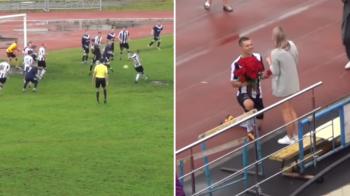 Faza geniala la un meci: a dat gol si s-a dus sa-si ceara iubita in casatorie! Cum a reactionat tanara. VIDEO