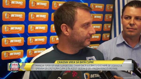 "Interviu in limba romana dat de Mangia! Antrenorul Craiovei a spus cand va debuta noul ""Messi din Banie"", Meza Colli"