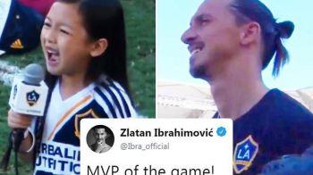 Fetita care i-a topit inima LEULUI Ibrahimovic! Cum a putut sa cante imnul Americii. VIDEO