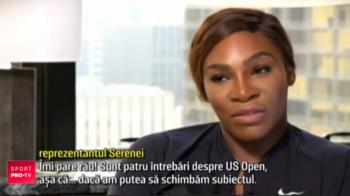 "Serena Williams, pusa in incurcatura in timpul unui interviu! Managerul ei: ""Sa schimbam subiectul!"". VIDEO"