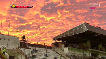 Priveste cerul! Imagini ireale surprinse in Giulesti, la meciul de Cupa al Rapidului