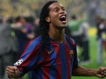 Forma e temporara, clasa e permanenta! Ronaldinho a facut din nou SHOW la 38 de ani! Ce i-a facut lui Puyol