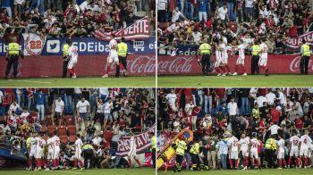 Momente de COSMAR in Spania la partida Eibar - Sevilla! Tribuna a cedat dupa un gol, mai multi suporteri au ajuns la spital