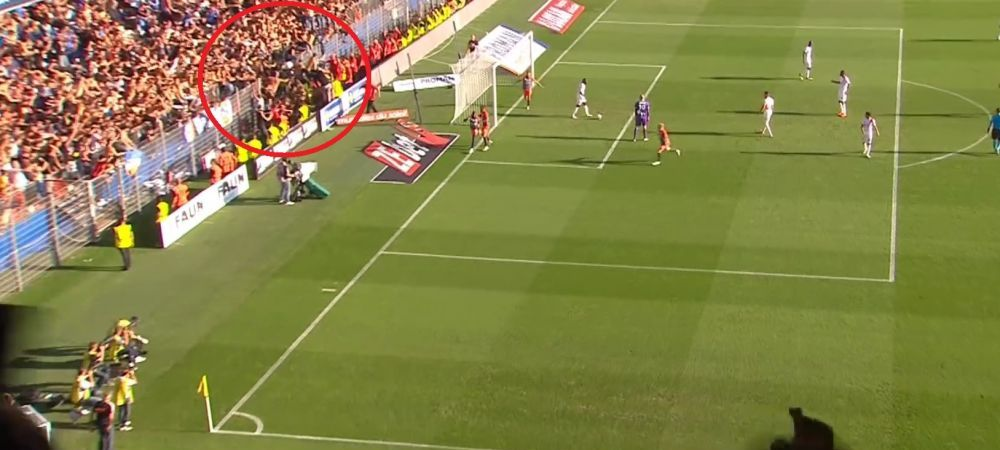 Inca un incident SOCANT! Dupa momentele groaznice de la Eibar-Sevilla, un gard a cedat si la o partide din Ligue 1! Fanii s-au prabusit in teren
