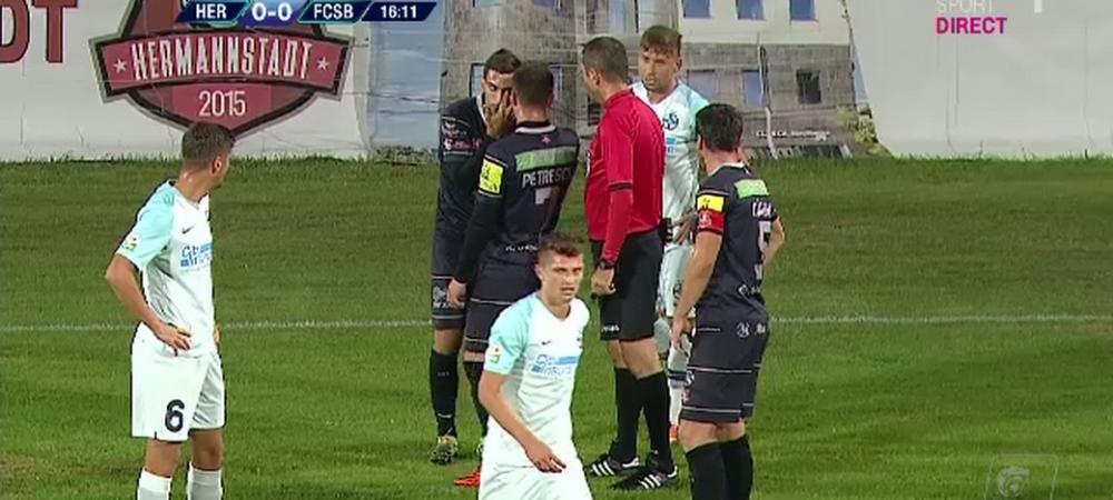 HERMANNSTADT - FCSB | Cea mai ciudata accidentare vazuta pe terenul de fotbal! L-a faultat pe Tanase si apoi i-au dat lacrimile! Ce s-a intamplat