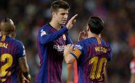 """Scandal intre doi dintre LIDERII din vestiarul Barcelonei: """"Messi si Pique NU se mai suporta!"""" De la ce a plecat cearta"""