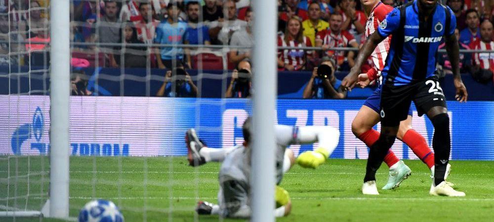 UEFA CHAMPIONS LEAGUE | Atletico 2-1 Brugge, DUBLA Griezzman! Napoli 1-0 Liverpool; Dortmund 3-0 Monaco; PSV 1-2 Inter | Nebunie la PSG 6-1 Steaua Rosie