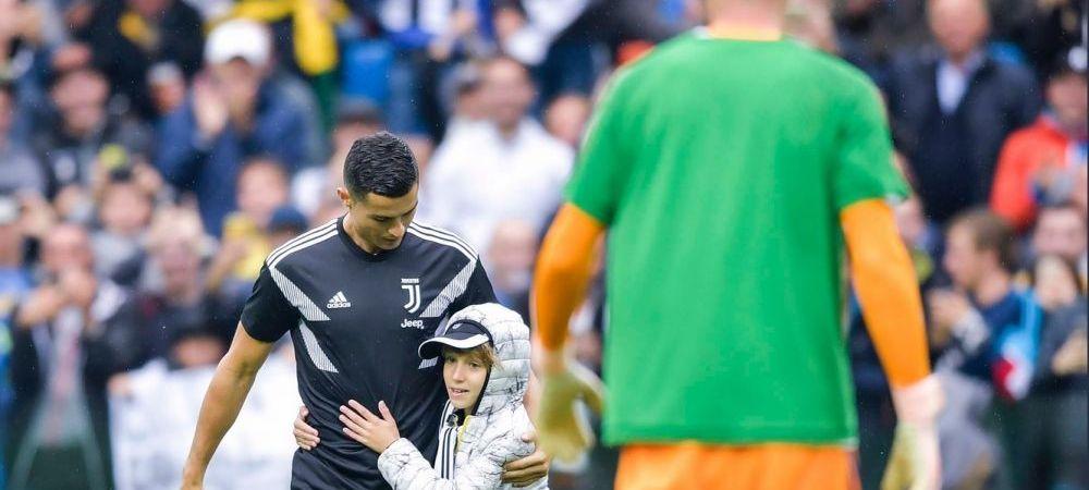 FOTO | Gestul facut de Cristiano Ronaldo inaintea meciului cu Udinese! Cum a incercat portughezul sa isi spele imaginea