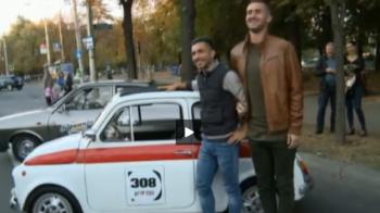 """Fotbalistii Petrolului au mers la parada masinilor retro de la Ploiesti: """"Viteza maxima? 230, cu Toto Tamuz in masina!"""""""