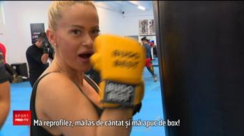 Anda Adam a luat lectii de kick-boxing de la Andrei Stoica! Va fi in galeria lui Stoica in lupta cu furia Albaniei
