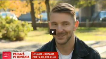 """Antal, golgheterul Lituaniei: """"Nu va temeti, nu vom avea probleme joi seara!"""" Meciul e in direct la PRO TV"""