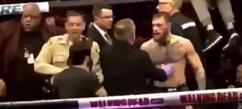 Noi imagini de la bataia de dupa lupta dintre McGregor si Nurmagomedov! Cadrele care arata cine a lovit primul