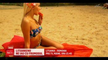LITUANIA - ROMANIA, LIVE, LA PROTV | Ochii la minge, nu in tribune :) Iubita selectionerului Lituaniei vine la meciul cu Romania