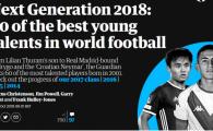 FANTASTIC: Doi romani printre cei mai tari 60 de jucatori din LUME! 'Zlatan' al Craiovei a prins TOPUL Mondial facut de Guardian