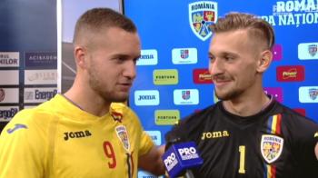 """""""Daca mai faci asa, eu ma apuc de box, iau rosu la fiecare meci!"""" Moment SENZATIONAL dupa Romania - Tara Galilor! Puscas s-a dus peste Radu la interviuri"""