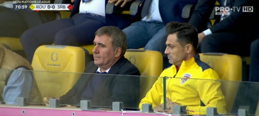 ROMANIA - SERBIA | Hagi, dupa 4 ani din nou la un meci al Romaniei!!! A vazut Romania - Serbia de langa Radoi