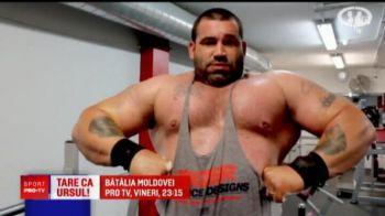 E ca rusul Khabib! Se antreneaza cu un urs ca sa-l doboare pe omul-urs, un urias de 160 de kilograme!