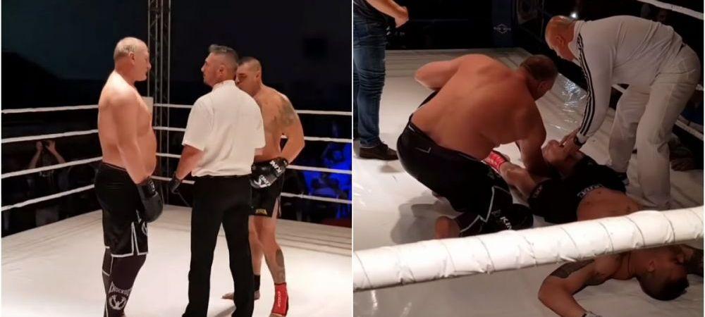 Imagini socante! Tolea Ciumac a intrat in ring cu liderul mafiei fierului vechi, iar adversarul a fost scos pe targa din sala! Ce s-a intamplat
