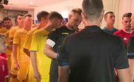Cum s-au antrenat jucatorii Romaniei U21 in vestiar inaintea meciului decisiv cu Liechtenstein