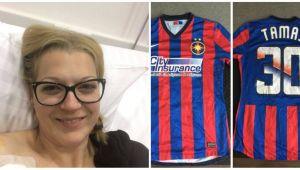 FOTO Fotbalistii romani lupta pentru salvarea unei tinere bolnave de cancer