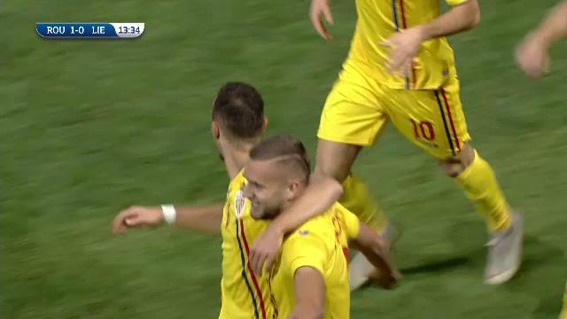 Romania U21 - Liechtenstein U21 - Puscas deschide scorul