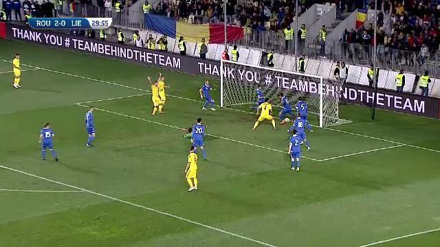 Romania U21 - Liechtenstein U21 - mingea este respinsa de pe linia portii