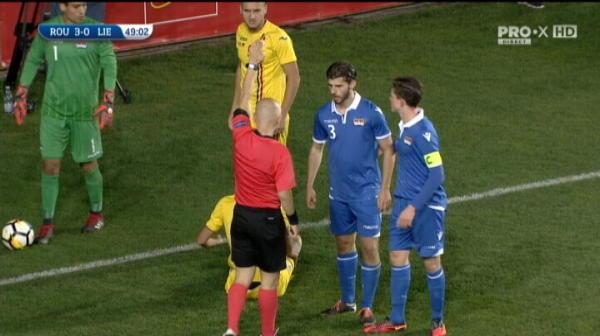 Romania U21 - Liechtenstein U21 - Ivan primeste galben pentru simulare