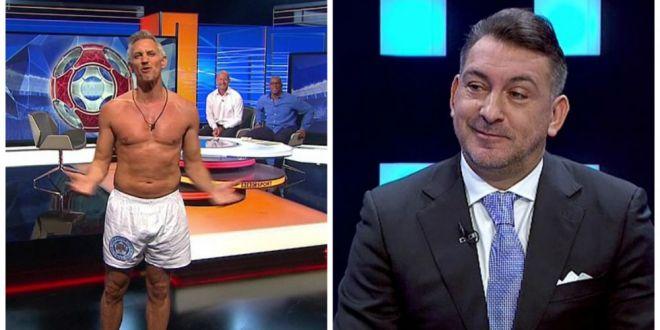 Pariul nebun facut cu Ilie Dumitrescu in direct la TV!  Vin in emisiune in chiloti, ca Lineker la BBC