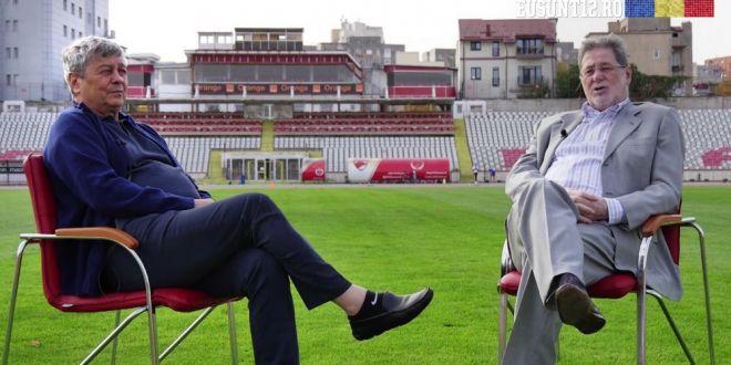 SUPER INTERVIU cu Lucescu si Cornel Dinu in Stefan cel Mare! Legendele lui Dinamo au fost de fapt FANII STELEI
