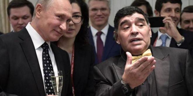 Pe bune? Vorbim de Putin aici!  Cum l-a refuzat Maradona pe președintele Rusiei.Cei prezenți au fost siderați