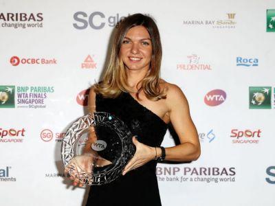 Reactia Simonei Halep dupa ce a cucerit trofeul pentru cea mai buna jucatoare a anului