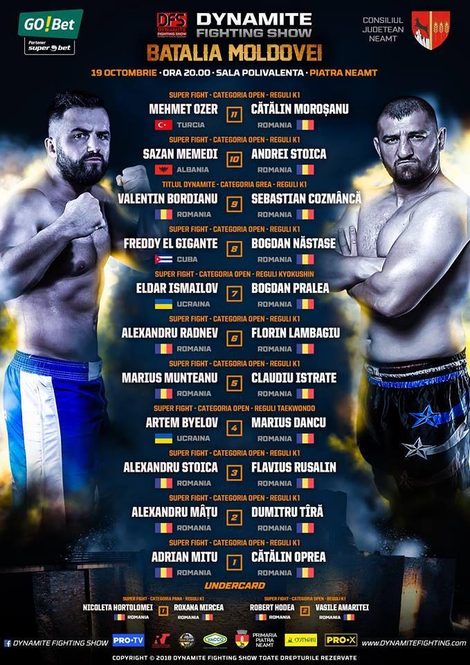 20:00 LIVE LA PRO X: BATALIA MOLDOVEI! Ciobanul Nastase se bate cu un cubanez de doua ori mai greu ca el! Morosanu intra in ring cu turul Ozer, dupa 23:00 LA ProTV