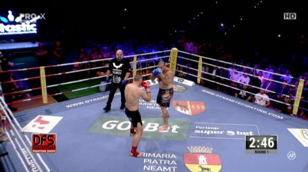 Ciobanul Nastase l-a invins prin TKO pe Freddy El Gigante